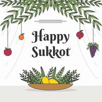 Glücklicher Sukkot-Vektor vektor