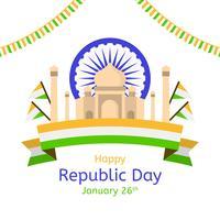 platt republik dag vektor bakgrund