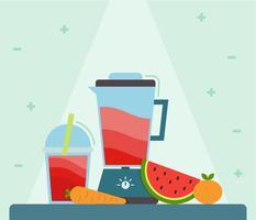 Ikonischer Smoothie + Zutaten Vektoren