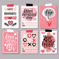 Valentinstag Karten vektor