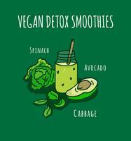 Detox vatten illustration