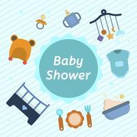 platt baby shower vektor illustration