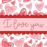Alla hjärtans kortdesign vektor
