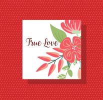 Äkta kärlek vektor