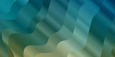 ljusblå, gul bakgrund med cirkulär båge.