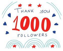 tack anhängare banner för sociala nätverk vektor
