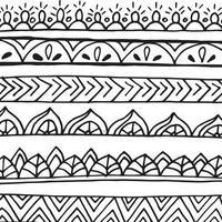 abstrakt doodle mönster.