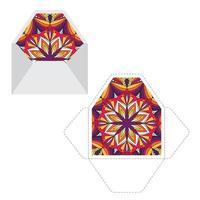 mandala mönster papper ärm mall. vektor