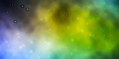 ljusblå, gul konsistens med vackra stjärnor vektor