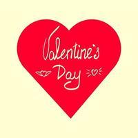 Alla hjärtans dag handbokstäver vektor