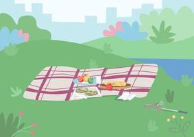 Ort für ein Picknick vektor