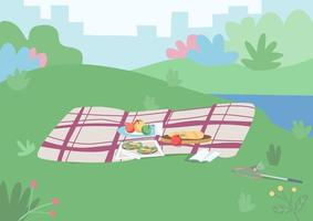 plats för picknick vektor