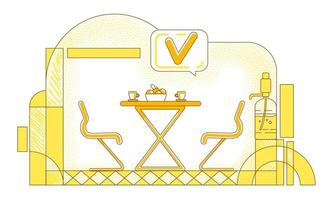 Firmen-Cafeteria-Liniendesign vektor
