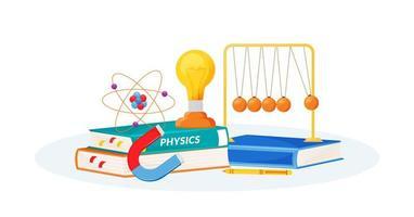 fysik levererar och böcker vektor