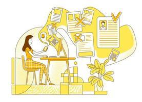 rekryterare utvärderar sökande cv