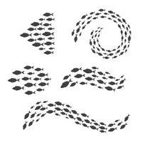 Schwimmfischsammelset vektor