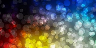 ljusblå, gul bakgrund med prickar.