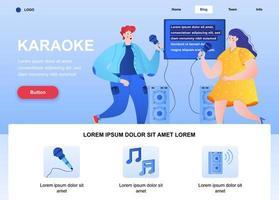 Karaoke flache Landingpage vektor