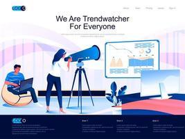 vi är trendwatcher för alla isometriska målsidor. vektor