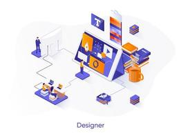 Designer isometrische Web-Banner. vektor