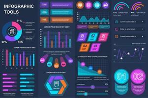 Bündel Infografik UI, UX, Kit Elemente. vektor