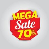 mega försäljning banner mall