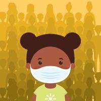 junges Mädchen Charakter mit einer Gesichtsmaske