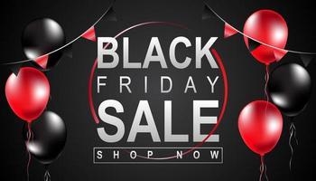 svart fredag försäljning affisch vektor
