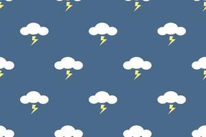 sömlösa mönster av stormmoln med blixtar