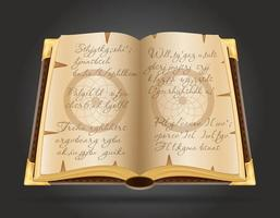öppen magisk bok vektor