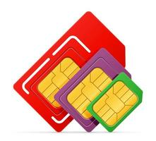 bunter SIM-Karten-Chipsatz vektor