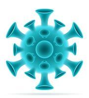 pandemiska koronavirusbakterier vektor