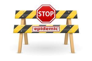 Stoppbarriere für Epidemie vektor