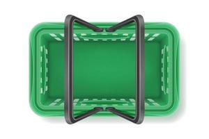Draufsicht Plastik Einkaufskorb vektor