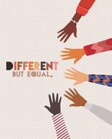 unterschiedliches aber gleiches und vielfältiges Hauthanddesign