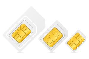 SIM-Karten-Chipsatz zur Verwendung in der digitalen Kommunikation vektor