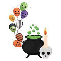 Halloween Kürbis Cartoon Design vektor