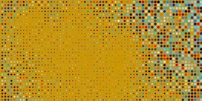 hellblauer, gelber Hintergrund mit Punkten.