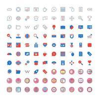 ikonuppsättning för sökmotoroptimering för personligt och kommersiellt bruk.