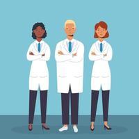 medizinisches Personal, wesentliche Arbeiter Charaktere