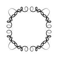 svart prydnad ram design vektor