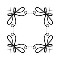 isoliertes schwarzes Ornamentrahmen-Design vektor