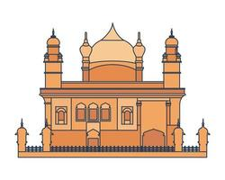 Erbauung des goldenen Tempels von Amritsar vektor