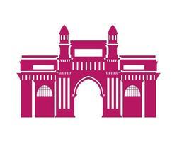Erbauung des Gateways von Indien isolierte Ikone