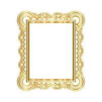 modernes Goldrahmen-Design vektor
