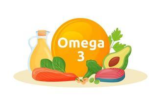 Produktreichweite von Omega 3 vektor