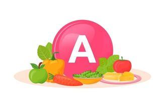 Produkte reich an Vitamin A. vektor