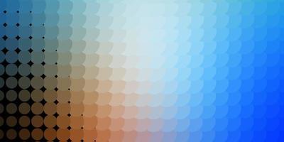 ljusblå, gul konsistens med cirklar.