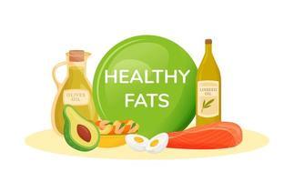 Lebensmittel mit gesunden Fetten vektor