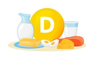 Vitamin-D-Nahrungsquellen vektor